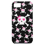 Cute Girlie Skull pattern iPhone 5 Covers