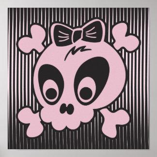 Cute Girlie Skull Poster