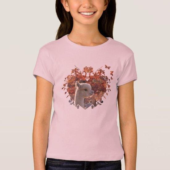 Cute Girls Alpaca Shirt