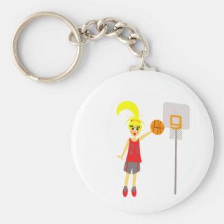 Cute Girls Basketball Key Chain