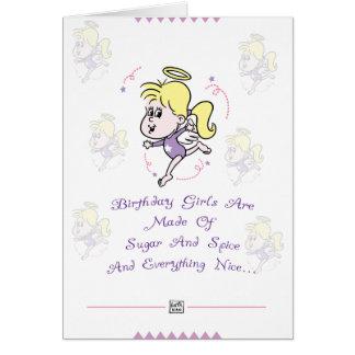 Cute Girls Birthday Card