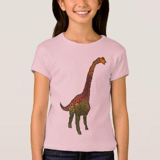Cute girls dinosaur doodle art illustration T-Shirt