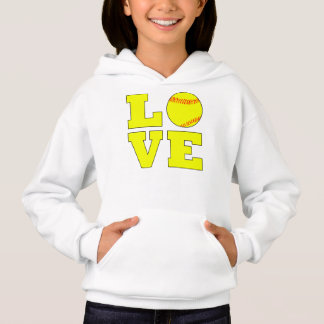 Cute Girls Fastpitch Softball Love Sweatshirt