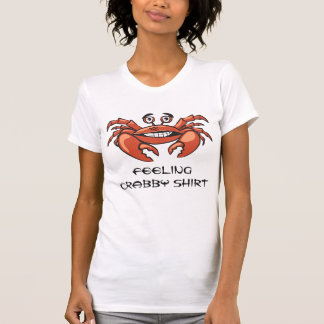 Cute Girls Funny Crab Trendy Whimsical Design T-Shirt