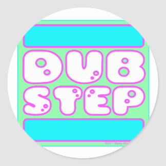 cute girls funny RUN DUB STEP Classic Round Sticker