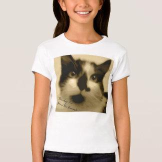 Cute Girl's Glamour Cat T-Shirt