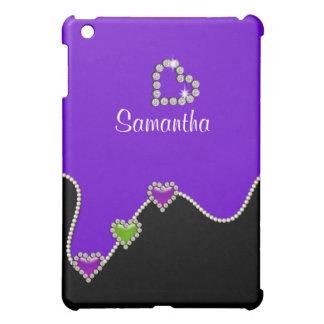 Cute girls heart name iPad mini cases
