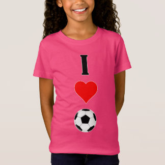 "Cute Girls ""I Heart/Love Soccer"" Practice T-shirt"