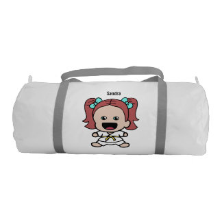 Cute Girl's Karate Duffel Bag