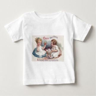 Cute Girls Painting Easter Eggs T-shirt