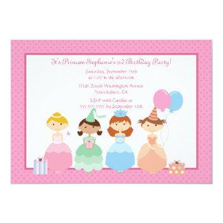 Cute girl's princess birthday party invitation
