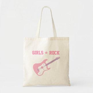 Cute Girls Rock Star Pink Guitar Tote Bag