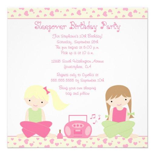 Personalized Slumber party Invitations CustomInvitations4Ucom