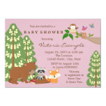 Cute Girls Woodland Baby Shower Personalized Invitation