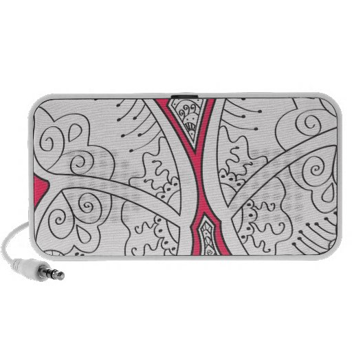 cute girly abstract butterfly tattoo graphic art mini speakers zazzle. Black Bedroom Furniture Sets. Home Design Ideas