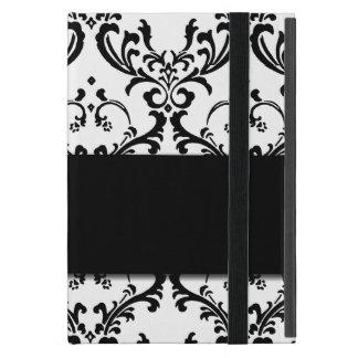 Cute Girly Black Damask Pattern Case For iPad Mini