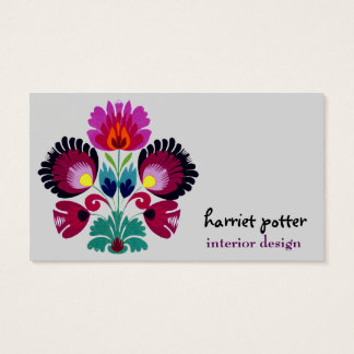 Cute Girly Bohemian Flowers Business Card