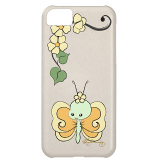 Cute Girly Butterfly Yellow iPhone 5C Cover
