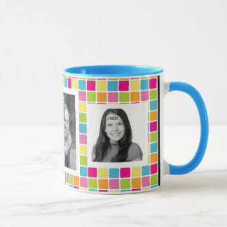 Cute Girly Candy Colors Photo Template Mug