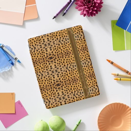 Cute Girly Cheetah Pattern Animal Print & Stiletto iPad Smart Cover