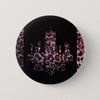 Cute girly chic leopard print chandelier button