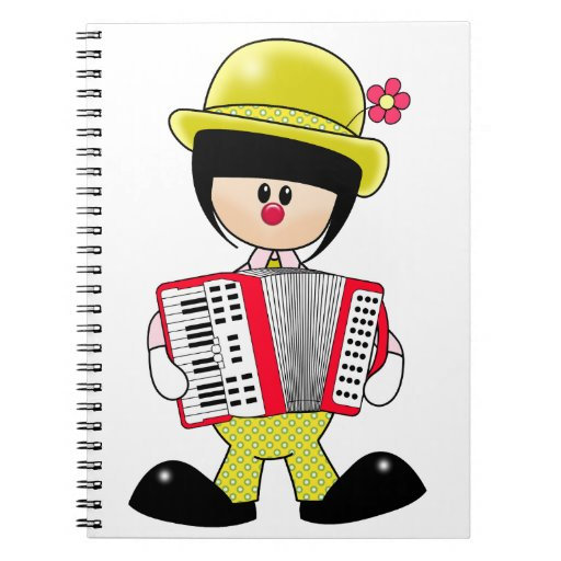 Cute Girly Clown with Accordian Notebook