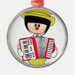Cute Girly Clown with Accordian Ornament
