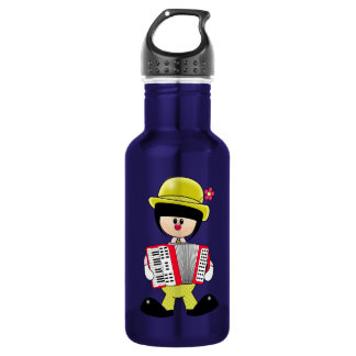 Cute Girly Clown with Accordian Stainless Steel Water Bottle