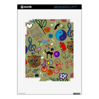 cute girly color pattern iPad 3 skin