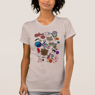 cute girly color pattern T-Shirt
