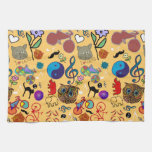 cute girly color pattern towel