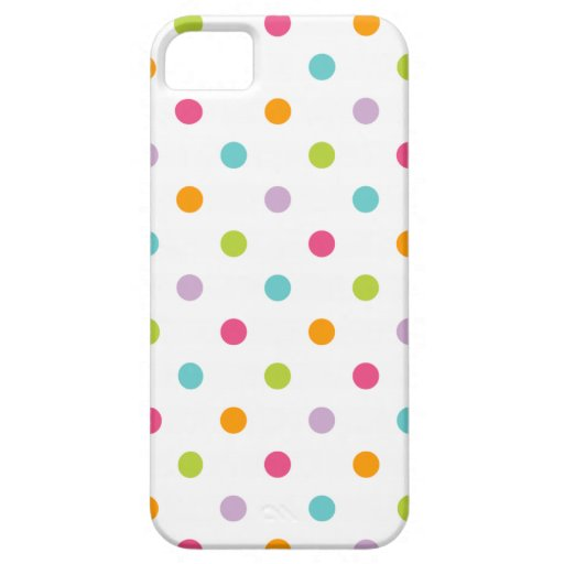 Colorful Iphone Wallpaper Girly: Cute Girly Colorful Polka Dots IPhone 5 Cover