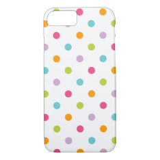 Cute Girly Colorful Polka Dots Iphone 7 Case at Zazzle