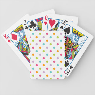 Cute Girly Colorful Polka Dots Bicycle Playing Cards