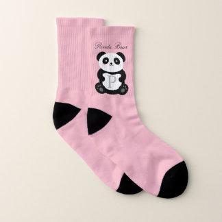 Cute Girly Cuddly Baby Panda Bear Monogram Socks