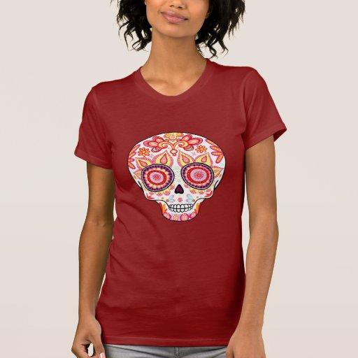 Cute Girly Day of the Dead Sugar Skull Shirt
