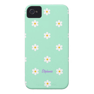 Cute Girly Diasy Flower Pattern iPhone 4/4S Case