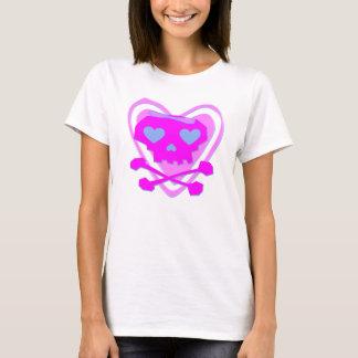 CUTE & GIRLY EMO SKULL & CROSSBONES T-Shirt