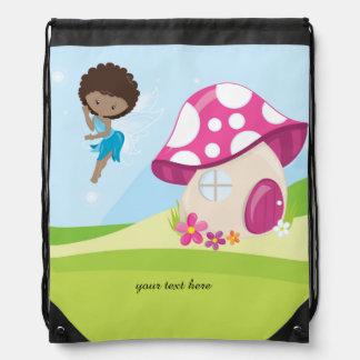 Cute girly fairy drawstring bag