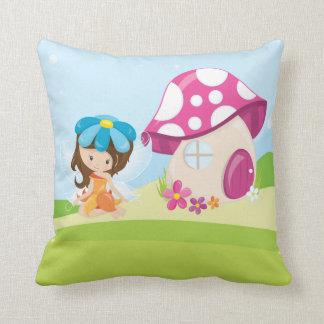 Cute girly fairy throw pillow
