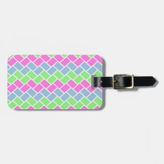Cute girly  fashionable zigzag rectangles pattern bag tags