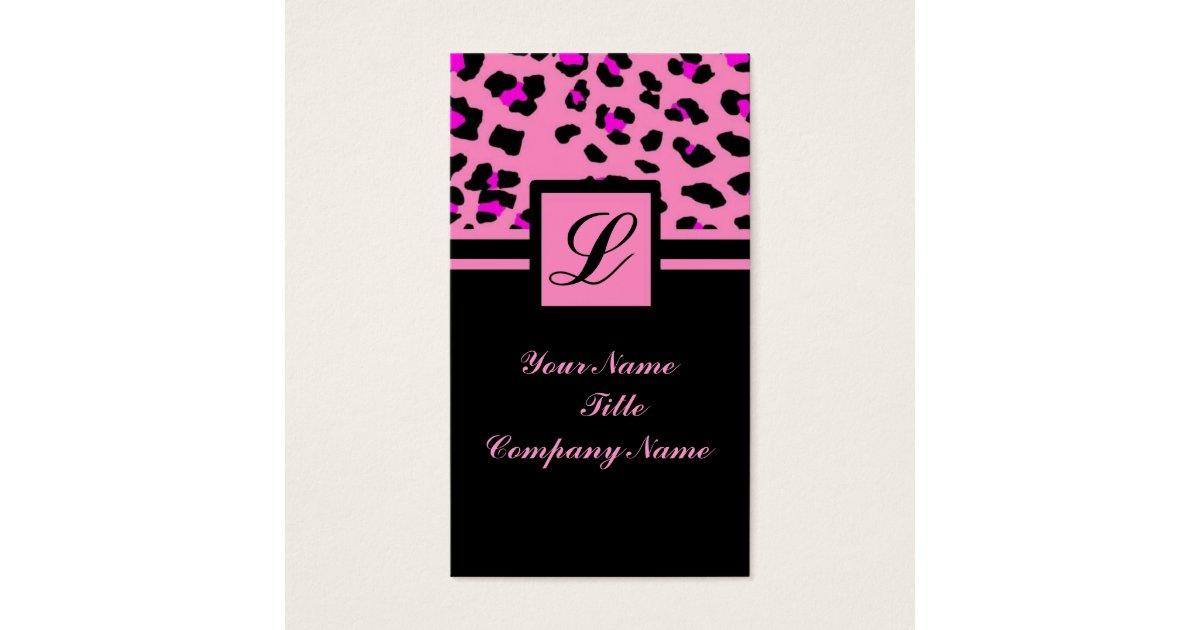 Cute Girly fashionista hot pink leopard print Business Card   Zazzle.com