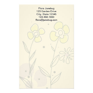 Cute Girly Floral Pattern Pretty Posies Stationery Design