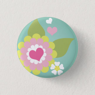 Cute girly flower button