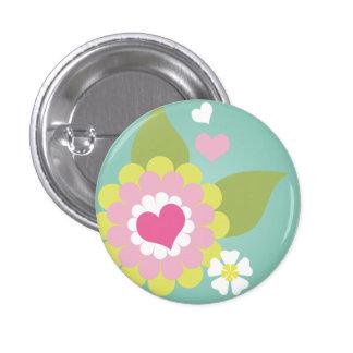 Cute girly flower button