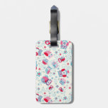 cute girly funny faces owls flowers swirls pattern travel bag tags