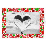 Cute Girly Hearts Love Books / House-of-Grosch Greeting Cards
