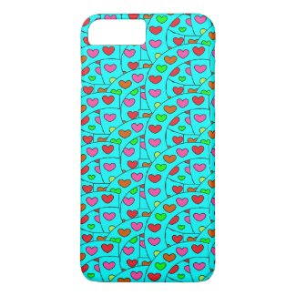 Girly Hearts iPhone 7 case for girls