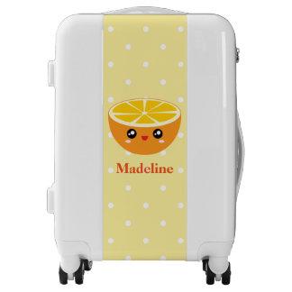 Cute Girly Kawaii Happy Sweet Orange Cartoon Luggage