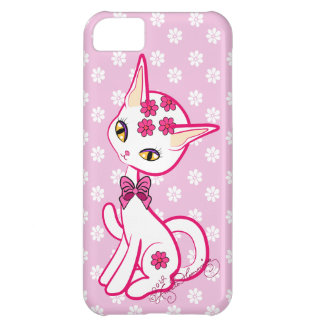 Cute girly Kitty Cat Pink ~ iPhone 5C Cases